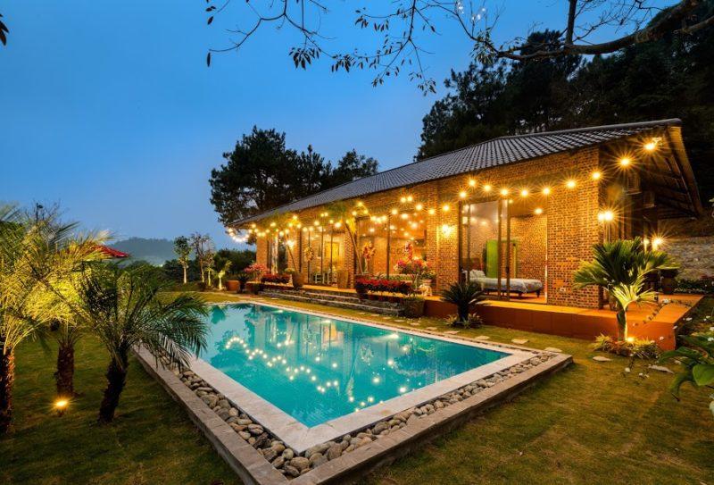 Hồ bơi riêng biệt tại villa